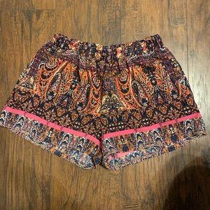 Tyche purple printed shorts